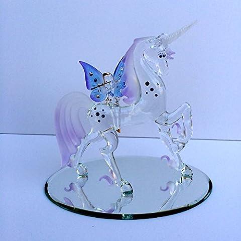 Glass Baron ~ Large Unicorn with Fairy - Crystal Unicorn
