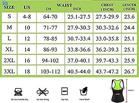 Women Neoprene Waist Trainer Corset Sweat Vest Weight Loss Body Shaper Workout Tank Tops