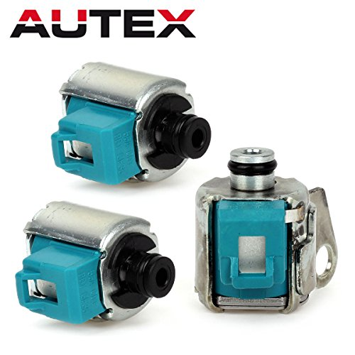AUTEX 2PCS A340E A340F AW4 Transmission Shift Solenoids + TCC Lock Up Soleniod Set Kit for 1985 UP Jeep Cherokee Toyota - Kickdown Solenoid