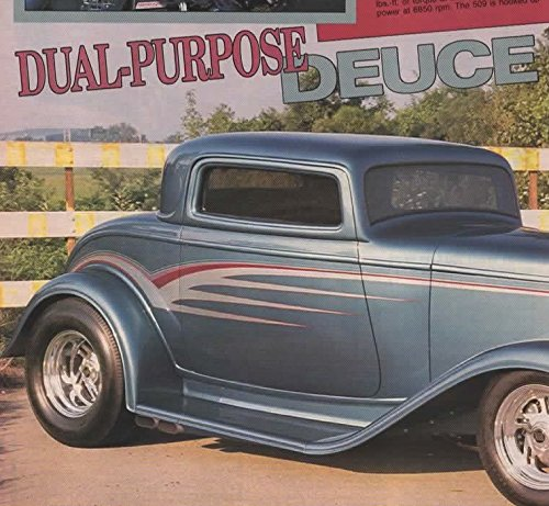 Magazine Print Article 1991: Jim Wise, Glaval Manufacturing, 1932 Ford Deuce Coupe Rod, 509 CI engine, TH400 Turbo 400 Transmission, Tod Hurst Deltron Aqua-Marine Teal Blue Paint