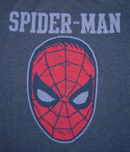 original Marvel Comics Herren T-Shirt Spiderman COLLEGE blau