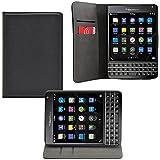 iprotect BlackBerry Passport Kunstledertasche im Bookstyle schwarz Schutzhülle mit integriertem Magnetverschluss