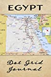 Egypt Dot Grid Journal: Softcover Travel Journal, Notebook And Planner for Travelers, Egypt Map Cover