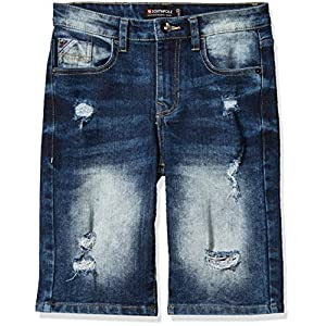 Southpole Boys' Big Ripped Denim Shorts