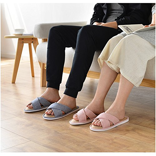 ZZHF Cuatro 6 Zapatos B Tamaño Piso Zapatillas Impermeables Zapatillas Zapatillas Antideslizante Inicio de Algodón Inicio Opcional Temporada Opcional Parejas Colores de rcgfBqr