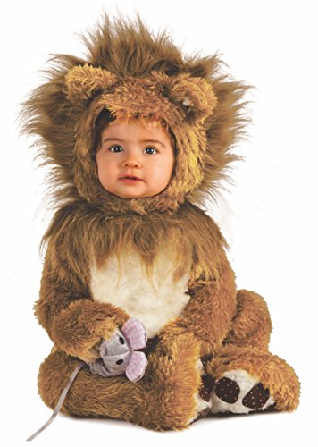 (Rubie's Unisex-baby Infant Noah Ark Lion Cub Romper, Brown/Beige, 0-6)