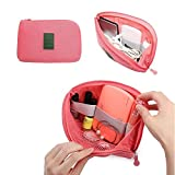 SOULFASHION Multifunctional Travel Pouch Accessories Storage Bag for Power Adapter (Watermelon Red)