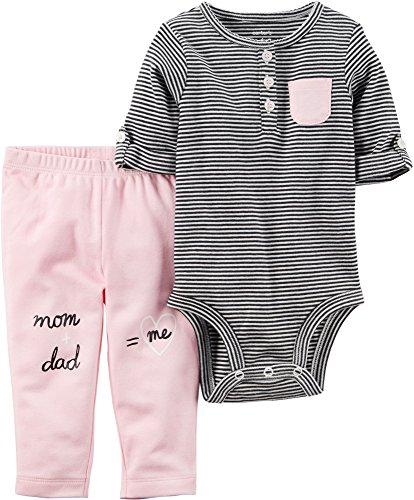 Carters Baby Girl 2 Piece (Carter's Baby Girls' 2 Piece Bodysuit And Pants Set 6 Months)
