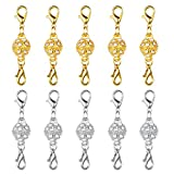 Dsmile Magnetic Jewelry Clasps Rhinestone Ball Style for Jewelry Necklace Bracelet