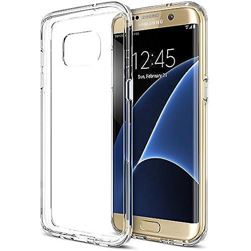 Galaxy S7 Edge Case, Trianium [Clear Cushion] Premium Bumper TPU / PC Scratch Resistant Cases for Samsung Galaxy Sales