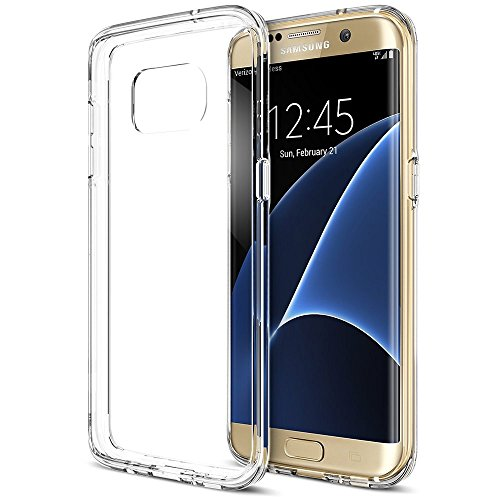 Integrated Panel - Galaxy S7 Edge Case, Trianium [Clear Cushion] Premium Bumper TPU/PC Scratch Resistant Cases for Samsung Galaxy S7 Edge Seamless Integrated Shock-Absorbing Cover with Back Hard Panel - Soft Clear