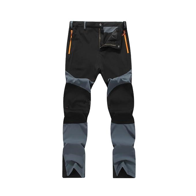 Amlaiworld Pantalones de Deporte de hombres pantalones jogger casuales Pantalones de hombre Impermeable Excursionismo Alpinismo Deportes Calentar Invierno ...