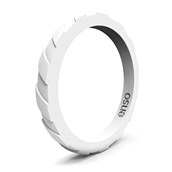 Enso Treaded Silicone Ring functional wedding ring for the gym