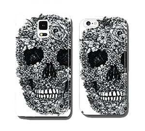 Flower Skull Vector cell phone cover case Samsung S5 mini