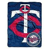 MLB Minnesota Twins Micro Raschel Plush Throw Blanket, Trip Play Design