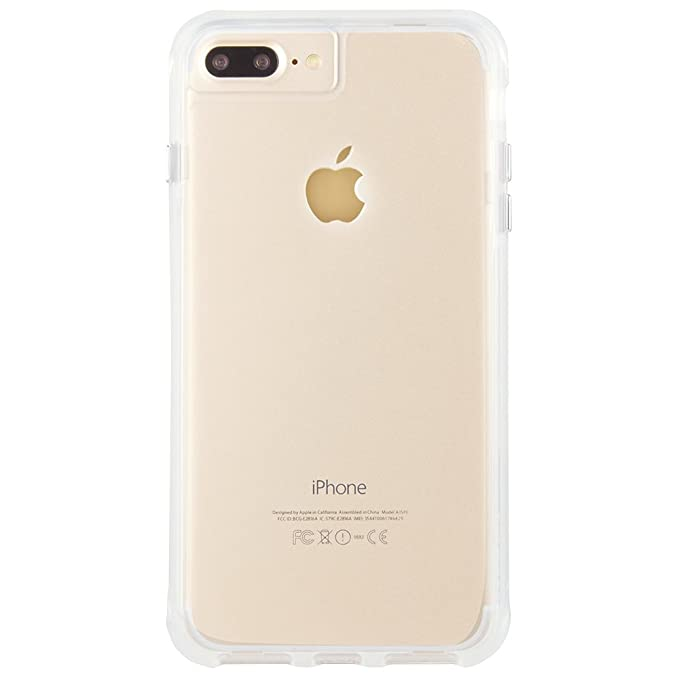 case mate iphone 8 plus case tough clear rugged 10 ft drop protection slim protective design for apple iphone 8 plus clear