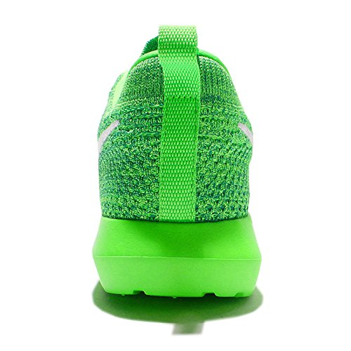 Nike Womens Wmns Roshe Nm Flyknit, VOLTAGE GREEN/WHITE-LUCID GREEN, 5.5 US