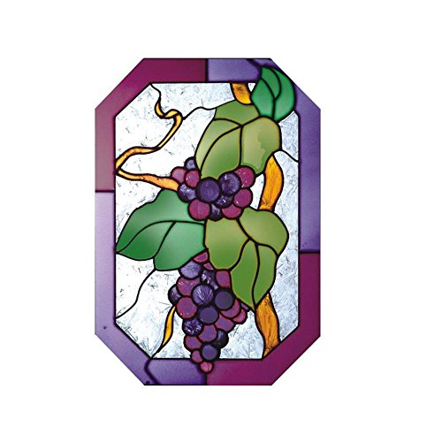 Silver Creek Grapes Painted Glass Panel Z-136
