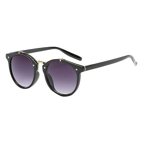 Heheja Lentes del Sol Para Hombre y Para Mujer UV400 Gafas Vintage Retro Moda
