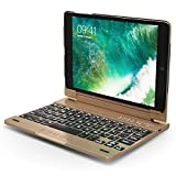 iPad Mini Keyboard Case, Snugg Apple iPad Mini 1 2 3 Bluetooth Keyboard Case Cover [Smart Backlit] Folio, Wireless Auto Sleep/Wake - Gold