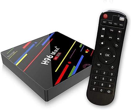 ESTGOUK H96 MAX+ Android 9.0 TV Box,4GB RAM & 32GB ROM, RK3328 Quad-Core,WiFi 2.4GHz,USB 3.0, H.265, HDMI, 4K Smart Set-Top Box: Amazon.es: Electrónica