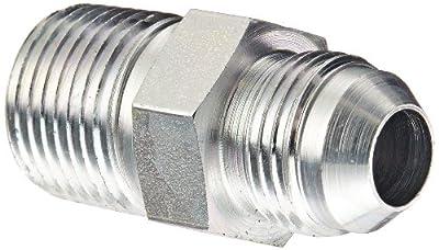 "Eaton Weatherhead Carbon Steel SAE 37 Degree (JIC) Flare-Twin Fitting, Adapter, 1/2"" NPT Male x 1/2"" JIC Male"