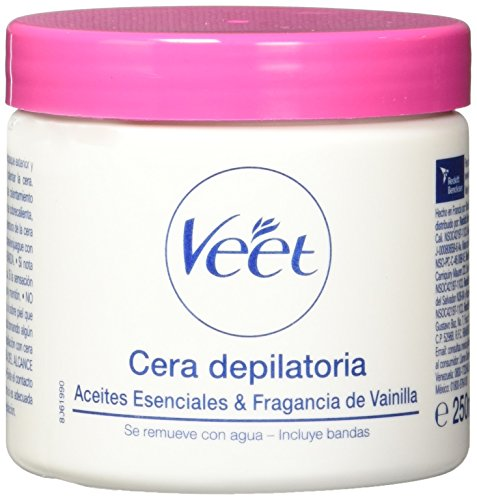 Veet Cera Depilatoria Naturals Tibia, 1 Tarro 250 ml