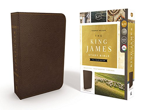 KJV, The King James Study Bible, Bonded Leather, Brown, Indexed, Full-Color Edition