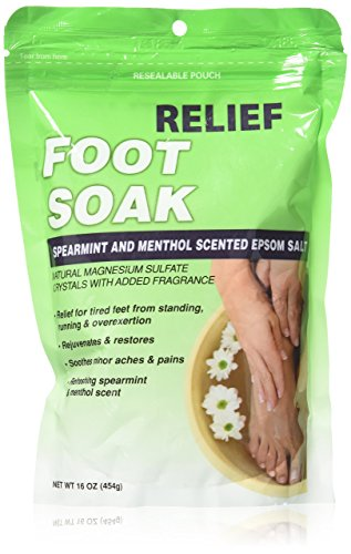 Relief MD Foot Soak Spearmint & Menthol Epsom Salt, 16 oz