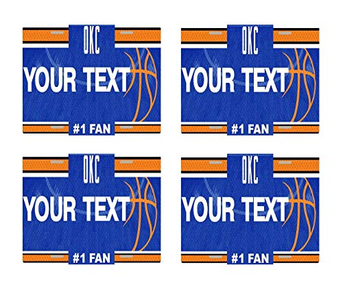- BRGiftShop Personalize Your Own Basketball Team Oklahoma City Set of 4 Square Beverage Coasters