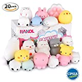 koala in can - HAKOL Premium Cute Squishy Toy Set - Mini Animal Kawaii Squishies For Children & Adults - CPSIA Certified, Great Stress & Anxiety Relief Benefits - Great Gift Idea! - 20 pcs