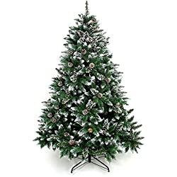 Artificial Christmas Tree 6,7 Foot Tree with Pine Cone Decoration (6 Foot)