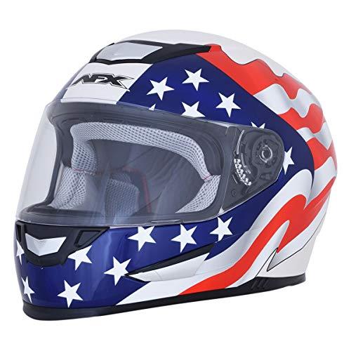 AFX FX-99 Helmet - Flag (XX-Large) (Pearl White)