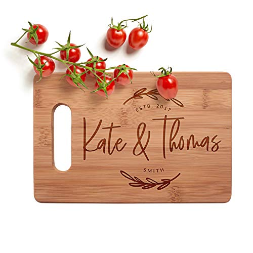 Personalized Cutting Board, 3 Sizes & 12 Designs, Bamboo Cutting Board Deal (Large Image)