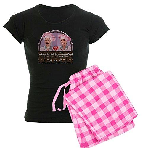 CafePress - I Love Lucy: Chocolate Makes - Womens Novelty Cotton Pajama Set, Comfortable PJ Sleepwear - I Love Pj