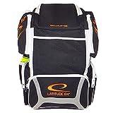 Latitude 64 DG Luxury E3 Backpack Disc Golf Bag (Black/Silver/Orange)