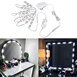 Autai Make up Mirror Light Dimmable Soft White 10 LED Module Light Bulbs 6.56ft with Switch Dimmer and Power Supply for Cosmetic Mirror Vanity Mirror Make-up Mirror Decoration