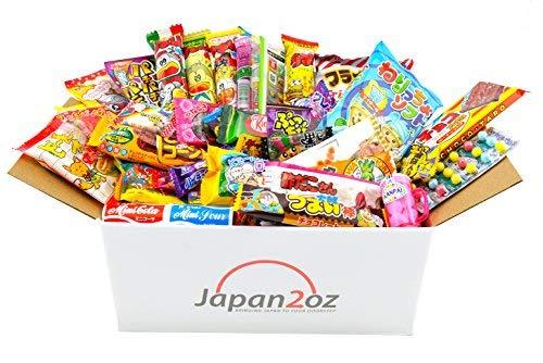 Japanese Candy Box Assortment 40 Snacks & Candy, Gum, Gummies, Ramune Christmas Present by Japan2oz