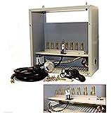 USA Premium Store Hydroponic Grow CO2 Generator 8 Burner LP Propane Gas Burners 22,400 BTU