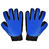 Hilltop Products 1 Pair - Pet - Dog - Cat Grooming Gloves. Pet Hair Remover Mitts. Massage Tool with Five Fingers Glove 1 Pair