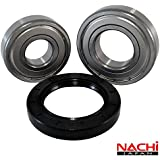 """Nachi High Quality Front Load Maytag Washer Tub Bearing and Seal Kit Fits Tub W10290562 (5 year replacement warranty and full HD """"How To"""" video included)"""