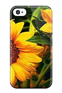 Awesome Flower Flip Case With Fashion Design For Iphone 4/4s
