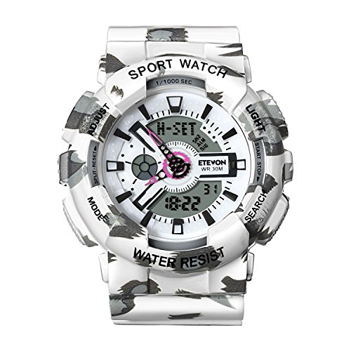 ❉Christmas Gifts❉ Women' s Quartz Fashion Analog Digital Sport Wrist Watch, Waterproof Outdoor Watches for Ladies - White (Countdown Christmas Days 46)