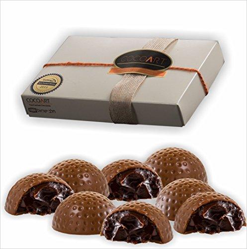 Dark Espresso - Gourmet Chocolate Truffle - Milk chocolate shell - ideal for birthday, anniversary and wedding gift - (12 Pieces)
