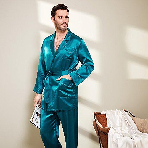 Lilysilk Pijamas Hombre Seda Escote Clásico De Traje 100% Seda De Mora De 22 Momme: Amazon.es: Ropa y accesorios