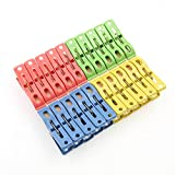 Moonguiding 20 Pcs Heavy Duty Plastic Clothes Pins Hanging Pegs Clips