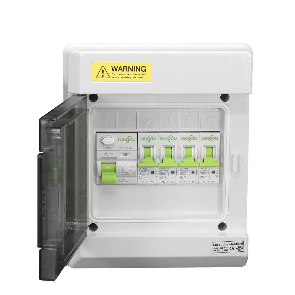 fuse box in garage diy   tools electrical 2x6amp 2x20amp mcbs garage consumer unit  2x20amp mcbs garage consumer unit