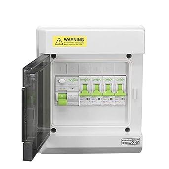 Caja de fusibles de 6 vías IP66 de consumo con RCD 63Amp 30mA + 1X6Amp, 1X10Amp, 1X16Amp y 1X32Amp MCB: Amazon.es: Industria, empresas y ciencia