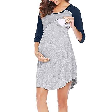 91bd675b1 Gusspower Vestido Lactancia Rayas Mujer Embarazo