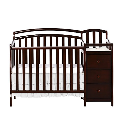 Dream On Me Casco 4 in 1 Mini Crib and Dressing Table Combo Espresso